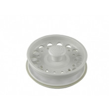 Opella 799.31 Basket Strainer & Stopper For Disposer  - Euro White
