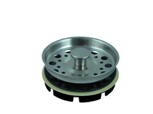 Opella 799.046 Basket Strainer & Stopper For Disposer  - Brushed Stainless Steel