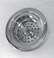 Trim To The Trade 4T-242-6 Lock Style Basket Strainer for Kitchen Sink - Satin Chrome