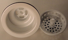 Trim To The Trade 4T-231-13 Post Style Basket Strainer for Kitchen Sink - White