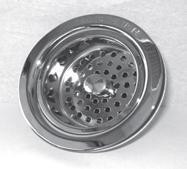 Trim To The Trade 4T-231-20 Post Style Basket Strainer for Kitchen Sink - Flat Black