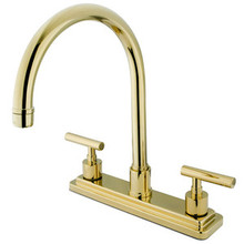 Kingston Brass Two Handle Widespread Kitchen Faucet - Polished Brass KS8792CMLLS
