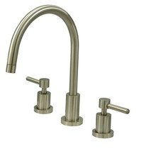 Kingston Brass Two Handle Widespread Kitchen Faucet - Satin Nickel KS8728DLLS