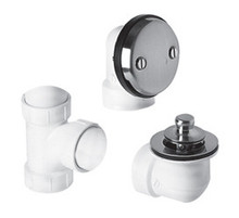 "Mountain Plumbing BDWPLTP SC Lift & Turn Bath Waste & Overflow Plumber""s Half Kit - Satin Chrome"