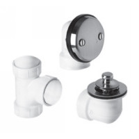 "Mountain Plumbing BDWPLTP PN Lift & Turn Bath Waste & Overflow Plumber""s Half Kit - Polished Nickel"
