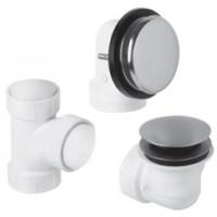 Mountain Plumbing BDWUNVP SC Soft Toe Touch Bath Waste & Overflow Kit - Satin Chrome