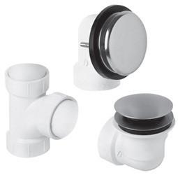 Mountain Plumbing BDWUNVP PVD Brass Soft Toe Touch Bath Waste & Overflow Kit - Polished Brass
