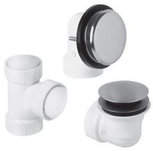 Mountain Plumbing BDWUNVP BRN Soft Toe Touch Bath Waste & Overflow Kit - Brushed Nickel