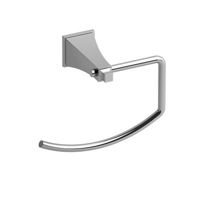 Riobel EF7-C Square Towel Ring - Chrome