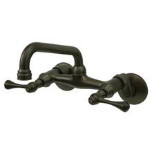 Kingston Brass Two Handle Wall Mount Kitchen Faucet - Oil Rubbed Bronze KS313ORB