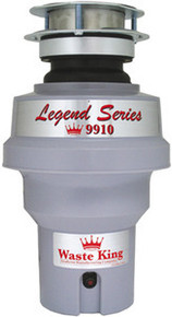 Waste King 9910 1/3 HP Continuous Feed Garbage Disposal - 3 Bolt Mount