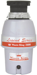 Waste King L-2600 1/2 HP Continuous Feed Garbage Disposal  - Easy Mount