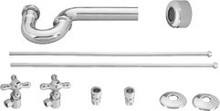 Westbrass D1838L 26 Lavatory Supply Kit & P Trap - Chrome