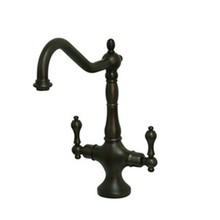 Kingston Brass Two Handle Single Hole Kitchen Faucet - Oil Rubbed Bronze KS1775ALLS