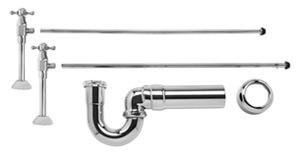 Mountain Plumbing MT8121X-NL/PVD Brass Lav Sweat Valve  Supply Kits W/New England/ Massachusetts P-Trap -  Polished Brass