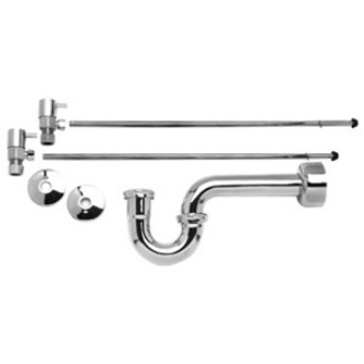 Mountain Plumbing MT7100-NL/CPB Lavatory Supply Kits with P-Trap -  Polished Chrome