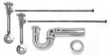 Mountain Plumbing MT3046-NL/SC Lav Sweat Valve  Supply Kits W/New England/ Massachusetts P-Trap -  Satin Chrome