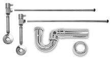 Mountain Plumbing MT3045-NL/CPB Lav Sweat Valve  Supply Kits W/New England/ Massachusetts P-Trap -  Polished Chrome
