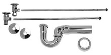 Mountain Plumbing MT3043-NL/SC Lav Supply Kits W/New England/ Massachusetts P-Trap -  Satin Chrome