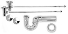 Mountain Plumbing MT3042-NL/SC Lav Supply Kits W/New England/ Massachusetts P-Trap - Lead Free - Satin Chrome