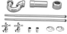 Westbrass D1638L 07 LA Lavatory Supply Kit with P Trap - Satin Nickel