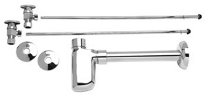 Mountain Plumbing MT9000-NL-SG Lav Supply Kits W/Decorative Trap - Satin Gold