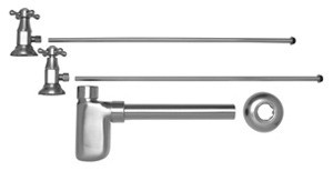 Mountain Plumbing MT8001-NL-EB Lav Supply Kits W/Decorative Trap - English Bronze