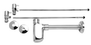 Mountain Plumbing MT7000-NL/CPB Lav Supply Kits W/Decorative Trap -  Polished Chrome