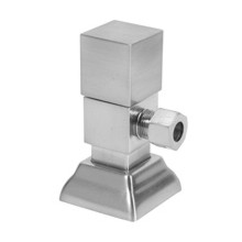 Mountain Plumbing MT5004-NL BRN Square Handle Angle Straight Valve - Lead Free - Brushed Nickel