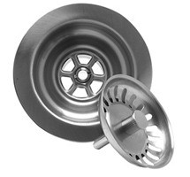 Mountain Plumbing MT300 BRN Kitchen Sink Basket Strainer - Brushed Nickel