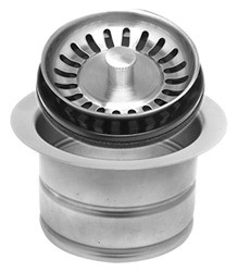 Mountain Plumbing MT202 BRN Extended Waste Disposer Flange + Stopper Strainer - Brushed Nickel