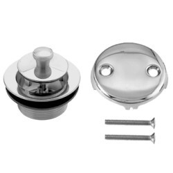 Westbrass D94-2 26 2 Hole Twist & Close Tub Drain Trim Kit  - Chrome