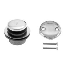 Westbrass D93-2 07 2 Hole Tip Toe Tub Drain Trim Kit - Satin Nickel