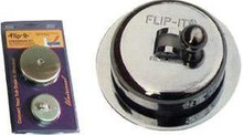 Flip-It 10-300 Tub Drain Stopper/Overflow Plate Conversion Kit -Chrome