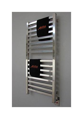 "Amba Quadro Q-2042-P 20"" W x 42"" H Towel Warmer & Space Heater - Polished Stainless"