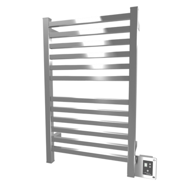 "Amba Quadro Q-2033-B 20"" W x 33"" H Towel Warmer & Space Heater - Brushed Stainless"