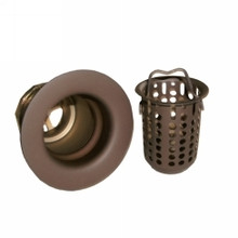 Opella 90125.957 Junior Bar Sink Drain with Basket Strainer - Oil Rubbed Bronze