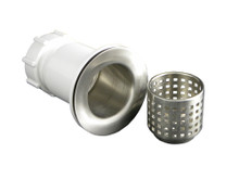 "Opella 90055.046 2 1/2"" Junior Bar Sink Drain & Basket Strainer - Brushed Stainless"