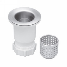 "Opella 90055.045 2 1/2"" Junior Bar Sink Drain & Strainer Basket - Polished Stainless"