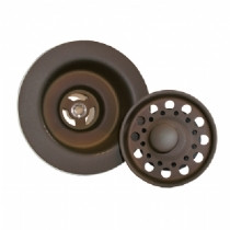 "Opella 90066.957 Basket Strainer & Flange Drain Assembly 3 1/2""  - Oil Rubbed Bronze"