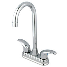 "Kingston Brass Two Handle 4"" Centerset Bar Faucet - Polished Chrome KB6491LL"