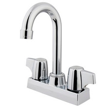 "Kingston Brass Two Handle 4"" Centerset Bar Faucet - Polished Chrome KB460"
