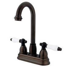 "Kingston Brass Two Handle 4"" Centerset Bar Faucet - Oil Rubbed Bronze KB3495PL"