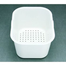 "Houzer Edura CL-1420 Colander for Sink - White 11-5/16"" x 14-15/16"" x 7-15/16"""