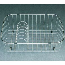 "Houzer WireCraft RB-2500 Dishes Rinsing Basket for Sink - Stainless Steel 19-1/4"" x 14-1/4"" x 5-1/2"""
