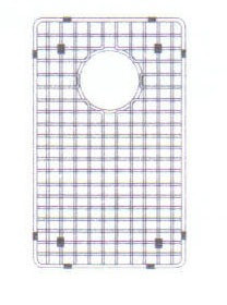 "Houzer WireCraft BG-4090 8 1/2"" x 15 1/2"" Bottom Grid for Sink - Stainless Steel"