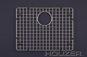 "Houzer BG-4210 20 1/2"" x 15 1/2"" Bottom Grid for Sink - Stainless Steel"