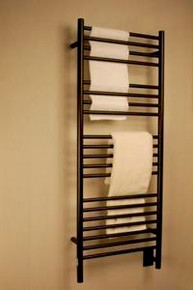 "Amba Jeeves DSO-20 Model D 20-1/2"" W x 52-3/4"" H Straight Electric Heated Towel Warmer - Oil Rubbed Bronze"