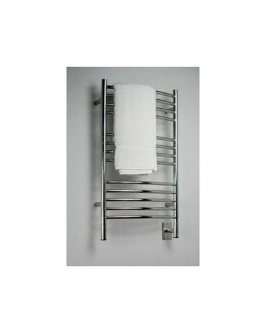"Amba Jeeves CCP-20 Model C 20-1/2"" W x 36"" H Curved Electric Heated Towel Warmer - Polished Stainless"