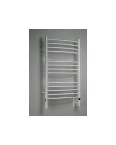 "Amba Jeeves CCW-20 Model C 20-1/2"" W x 36"" H Curved Electric Heated Towel Warmer - White"